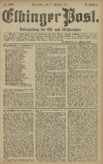 Elbinger Post, Nr. 230 Donnerstag 2 Oktober 1879, 6 Jahrg.