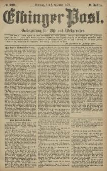 Elbinger Post, Nr. 233 Sonntag 5 Oktober 1879, 6 Jahrg.