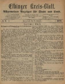Kreis-Blatt des Königlich Preußischen Landraths-Amtes zu Elbing, Nr. 4 Sonnabend 11 Januar 1873