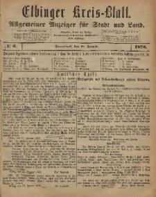 Kreis-Blatt des Königlich Preußischen Landraths-Amtes zu Elbing, Nr. 6 Sonnabend 18 Januar 1873