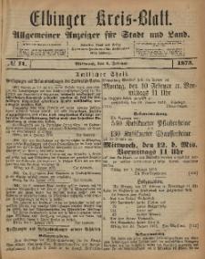 Kreis-Blatt des Königlich Preußischen Landraths-Amtes zu Elbing, Nr. 11 Mittwoch 5 Februar 1873