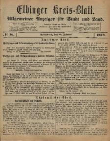 Kreis-Blatt des Königlich Preußischen Landraths-Amtes zu Elbing, Nr. 16 Sonnabend 22 Februar 1873