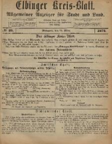 Kreis-Blatt des Königlich Preußischen Landraths-Amtes zu Elbing, Nr. 23 Mittwoch 19 März 1873