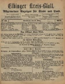 Kreis-Blatt des Königlich Preußischen Landraths-Amtes zu Elbing, Nr. 24 Sonnabend 22 März 1873