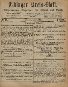 Kreis-Blatt des Königlich Preußischen Landraths-Amtes zu Elbing, Nr. 25 Mittwoch 26 März 1873