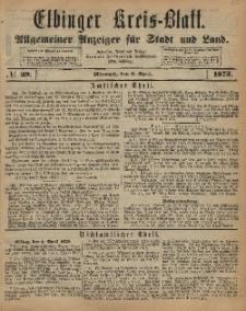 Kreis-Blatt des Königlich Preußischen Landraths-Amtes zu Elbing, Nr. 29 Mittwoch 9 April 1873