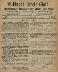 Kreis-Blatt des Königlich Preußischen Landraths-Amtes zu Elbing, Nr. 40 Sonnabend 17 Mai 1873