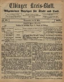 Kreis-Blatt des Königlich Preußischen Landraths-Amtes zu Elbing, Nr. 44 Sonnabend 31 Mai 1873