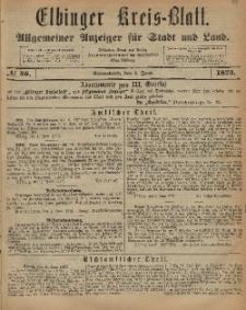 Kreis-Blatt des Königlich Preußischen Landraths-Amtes zu Elbing, Nr. 46 Sonnabend 7 Juni 1873