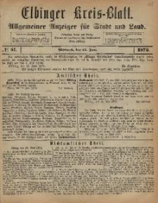 Kreis-Blatt des Königlich Preußischen Landraths-Amtes zu Elbing, Nr. 51 Mittwoch 25 Juni 1873