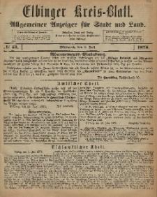 Kreis-Blatt des Königlich Preußischen Landraths-Amtes zu Elbing, Nr. 53 Mittwoch 2 Juli 1873