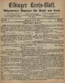 Kreis-Blatt des Königlich Preußischen Landraths-Amtes zu Elbing, Nr. 55 Mittwoch 9 Juli 1873