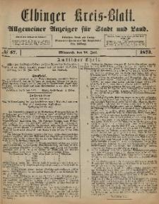 Kreis-Blatt des Königlich Preußischen Landraths-Amtes zu Elbing, Nr. 57 Mittwoch 16 Juli 1873