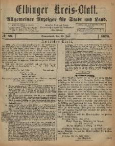 Kreis-Blatt des Königlich Preußischen Landraths-Amtes zu Elbing, Nr. 58 Sonnabend 19 Juli 1873