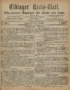Kreis-Blatt des Königlich Preußischen Landraths-Amtes zu Elbing, Nr. 62 Sonnabend 2 August 1873