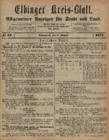 Kreis-Blatt des Königlich Preußischen Landraths-Amtes zu Elbing, Nr. 64 Sonnabend 9 August 1873