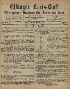 Kreis-Blatt des Königlich Preußischen Landraths-Amtes zu Elbing, Nr. 65 Mittwoch 13 August 1873