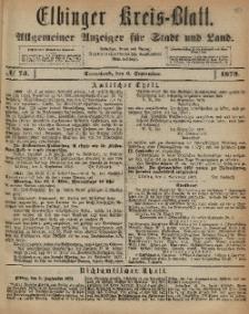 Kreis-Blatt des Königlich Preußischen Landraths-Amtes zu Elbing, Nr. 73 Sonnabend 6 August 1873