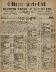Kreis-Blatt des Königlich Preußischen Landraths-Amtes zu Elbing, Nr. 75 Sonnabend 13 August 1873