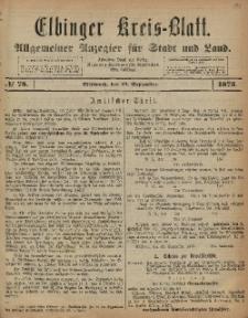 Kreis-Blatt des Königlich Preußischen Landraths-Amtes zu Elbing, Nr. 78 Mittwoch 24 August 1873