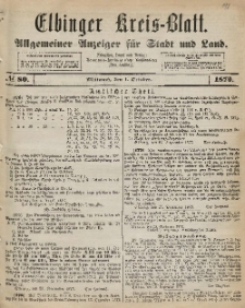 Kreis-Blatt des Königlich Preußischen Landraths-Amtes zu Elbing, Nr. 80 Mittwoch 1 Oktober 1873