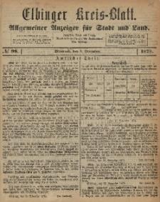 Kreis-Blatt des Königlich Preußischen Landraths-Amtes zu Elbing, Nr. 98 Mittwoch 3 Dezember 1873