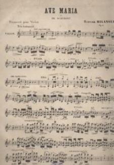 Ave Maria de Fr. Schubert. Op. 4