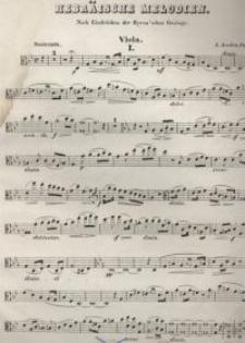 Hebräische Melodien. Op. 9