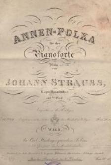 Annen-Polka. 117tes Werk