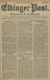Elbinger Post, Nr. 237 Freitag 10 Oktober 1879, 6 Jahrg.