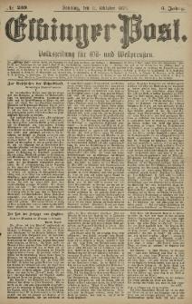 Elbinger Post, Nr. 239 Sonntag 12 Oktober 1879, 6 Jahrg.