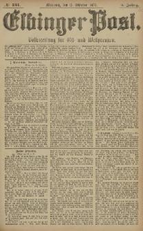 Elbinger Post, Nr. 241 Mittwoch 15 Oktober 1879, 6 Jahrg.
