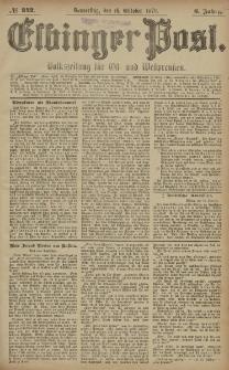 Elbinger Post, Nr. 242 Donnerstag 16 Oktober 1879, 6 Jahrg.