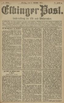 Elbinger Post, Nr. 243 Freitag 17 Oktober 1879, 6 Jahrg.