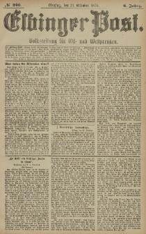 Elbinger Post, Nr. 246 Dienstag 21 Oktober 1879, 6 Jahrg.