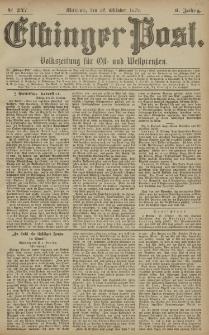 Elbinger Post, Nr. 247 Mittwoch 22 Oktober 1879, 6 Jahrg.