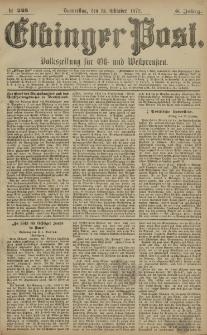 Elbinger Post, Nr. 248 Donnerstag 23 Oktober 1879, 6 Jahrg.