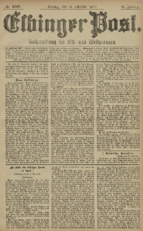 Elbinger Post, Nr. 249 Freitag 24 Oktober 1879, 6 Jahrg.