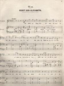 Gebet der Elisabeth : sopran