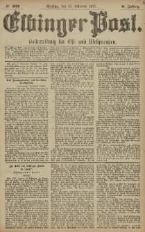 Elbinger Post, Nr. 252 Dienstag 28 Oktober 1879, 6 Jahrg.