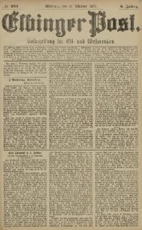 Elbinger Post, Nr. 253 Mittwoch 29 Oktober 1879, 6 Jahrg.