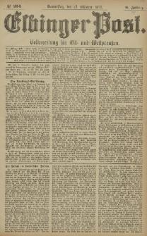 Elbinger Post, Nr. 254 Donnerstag 30 Oktober 1879, 6 Jahrg.