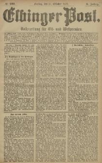 Elbinger Post, Nr. 255 Freitag 31 Oktober 1879, 6 Jahrg.