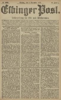 Elbinger Post, Nr. 258 Dienstag 4 November 1879, 6 Jahrg.