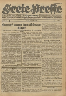 Freie Presse, Nr. 39 Freitag 27. Mai 1927 3. Jahrgang
