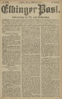 Elbinger Post, Nr. 276 Dienstag 25 November 1879, 6 Jahrg.
