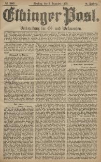 Elbinger Post, Nr. 282 Dienstag 2 Dezember 1879, 6 Jahrg.