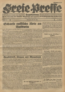 Freie Presse, Nr. 41 Montag 30. Mai 1927 3. Jahrgang