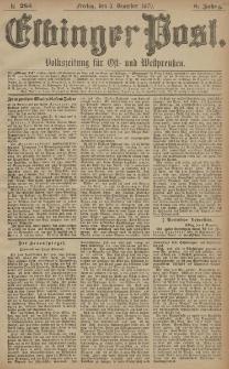 Elbinger Post, Nr. 285 Freitag 5 Dezember 1879, 6 Jahrg.