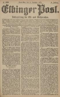 Elbinger Post, Nr. 290 Donnerstag 11 Dezember 1879, 6 Jahrg.